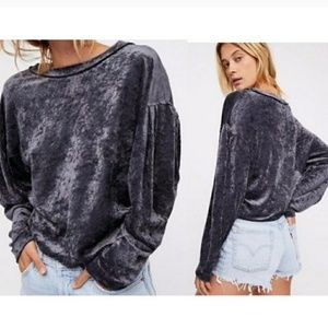 Free People Crushed Velvet Sweater